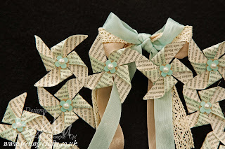 Pretty Book Print Wreath by Stampin' Up! Demonstrator Bekka Prideaux - check out her blog for lots of cute ideas