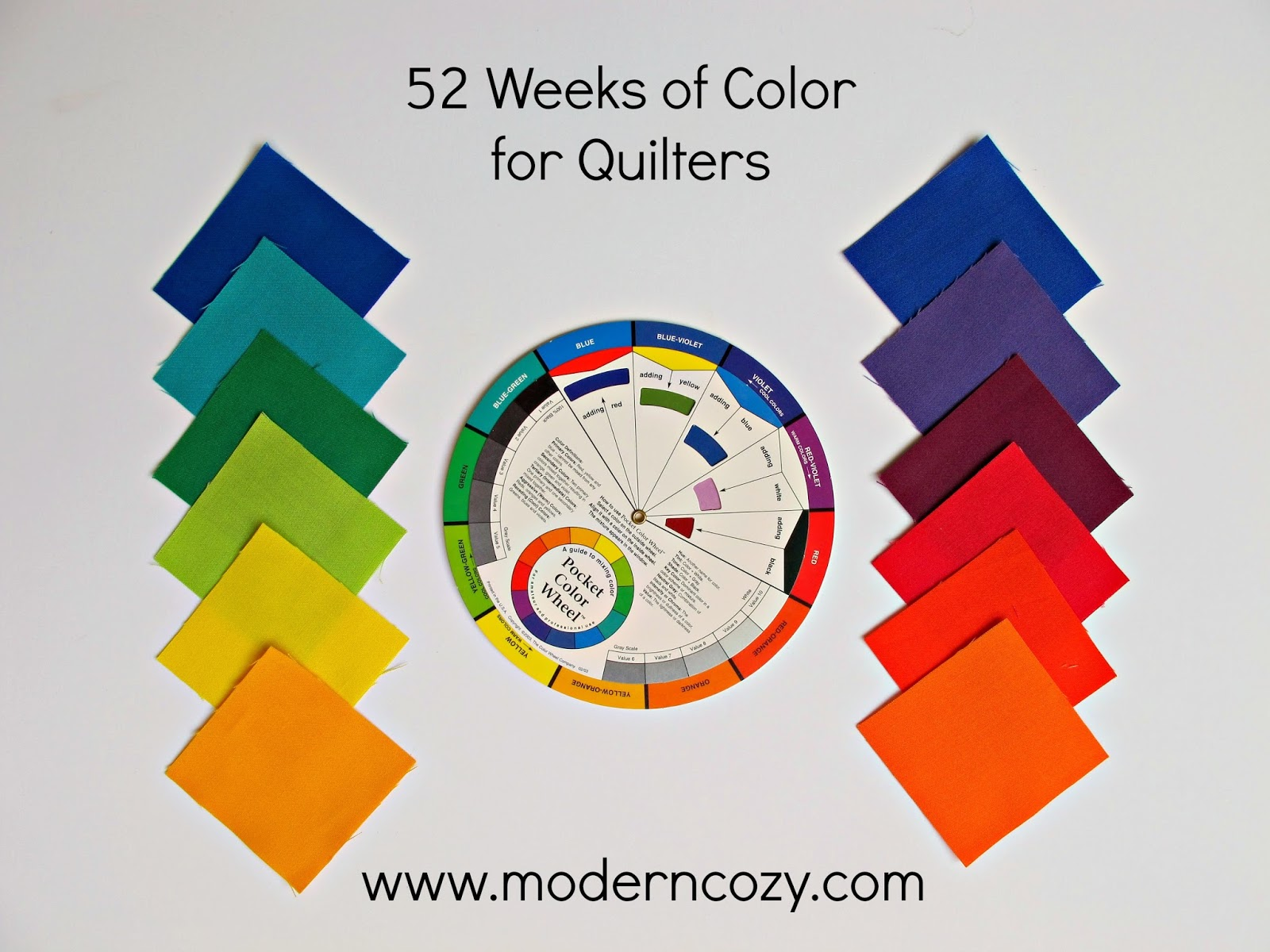 52 Weeks Of Color For Quilters Week 6 Analogous Colors