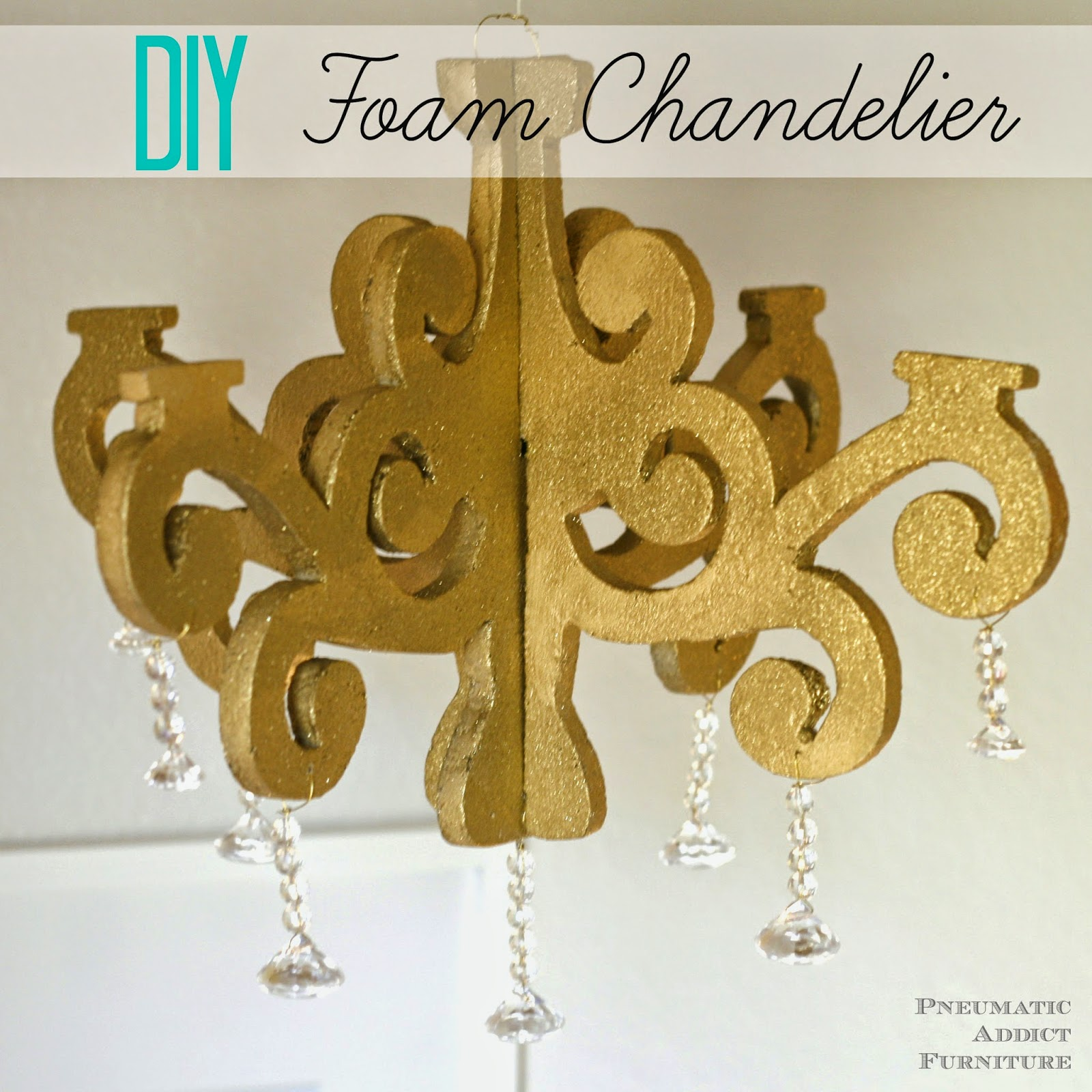 Make your own DIY chandelier using inexpensive craft foam