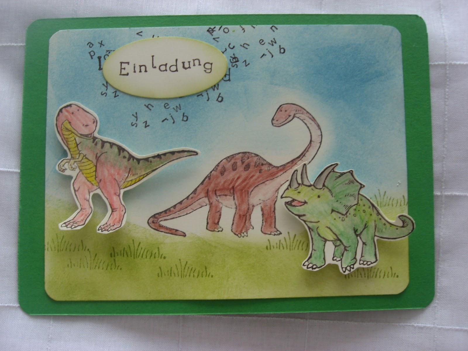 glitzerperle: dino-party, Einladungen