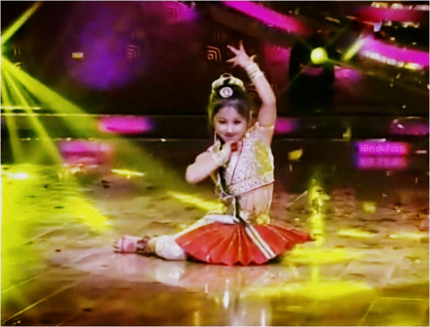 Anushka in a semi classical dance move at DID Little Masters stage
