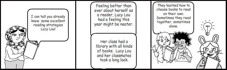Literacy Roots: Reading Strategies- Comic Book Style