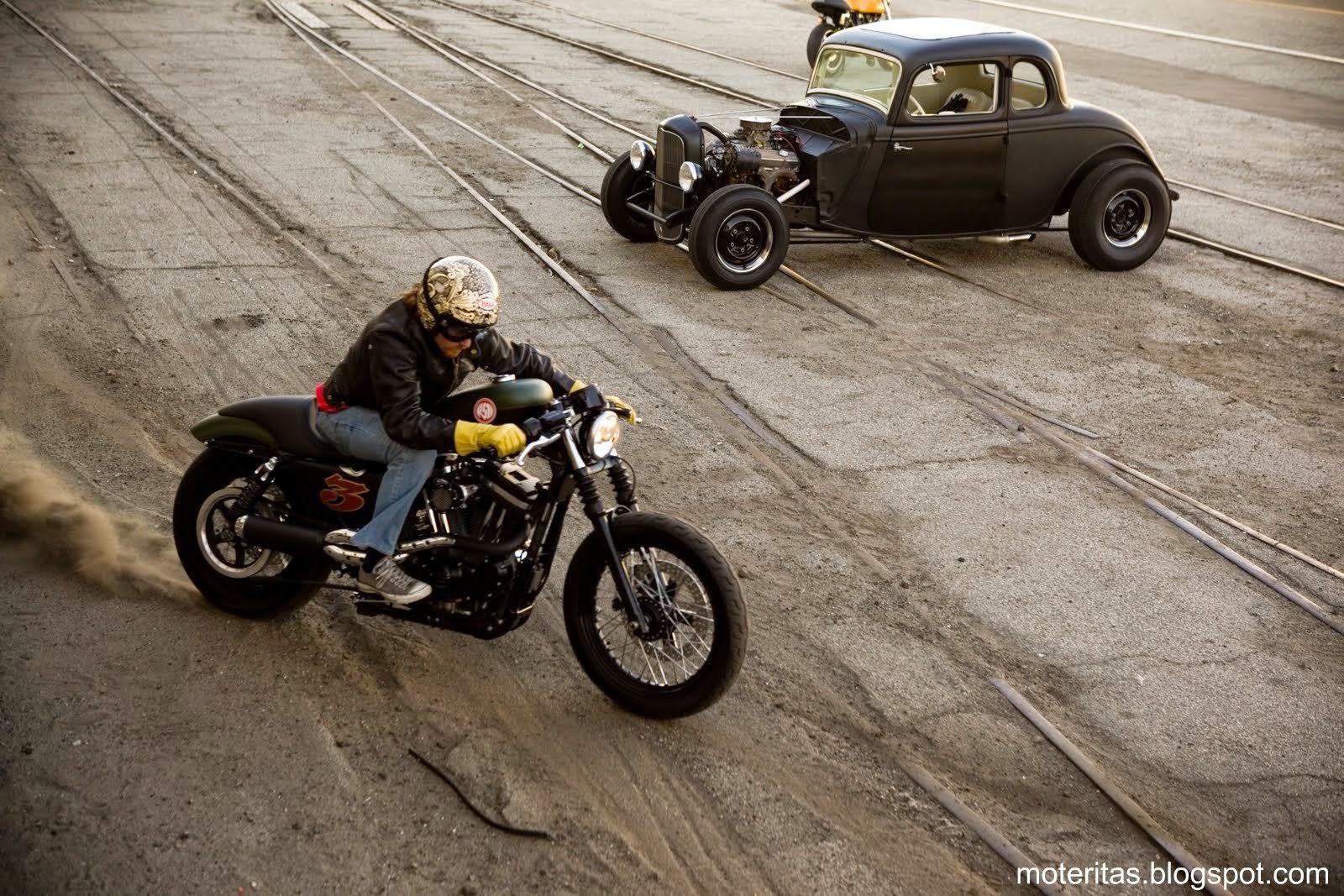 Bobber Cafe Racer Harley Davidson Hd Wallpaper 1080p: Motos Personalizadas Peru: Harley Davidson Y Las Chicas