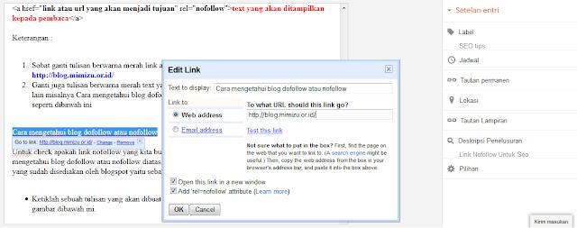 Cara mengetahui blog dofollow atau nofollow
