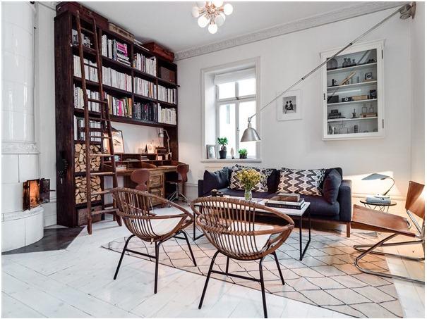 Duplex Loft in Kungsholmen Scandinavian Interior