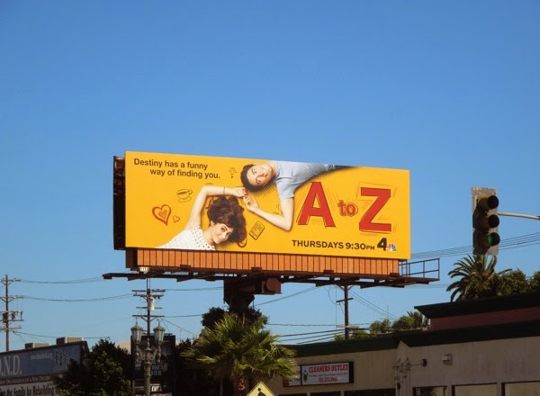 A to Z series premiere billboard