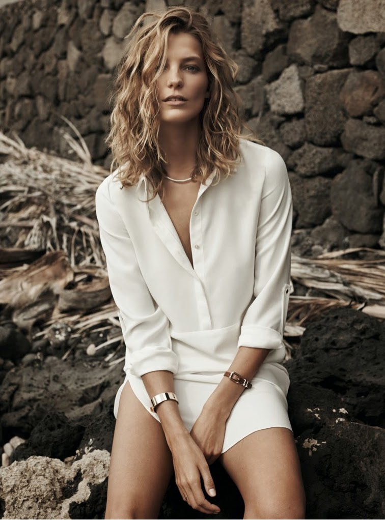 Daria Werbowy for Mango ss14 campaign look book