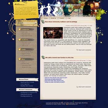 Funhouse blogger template. converted WordPress to Blogger template. template tech for blog