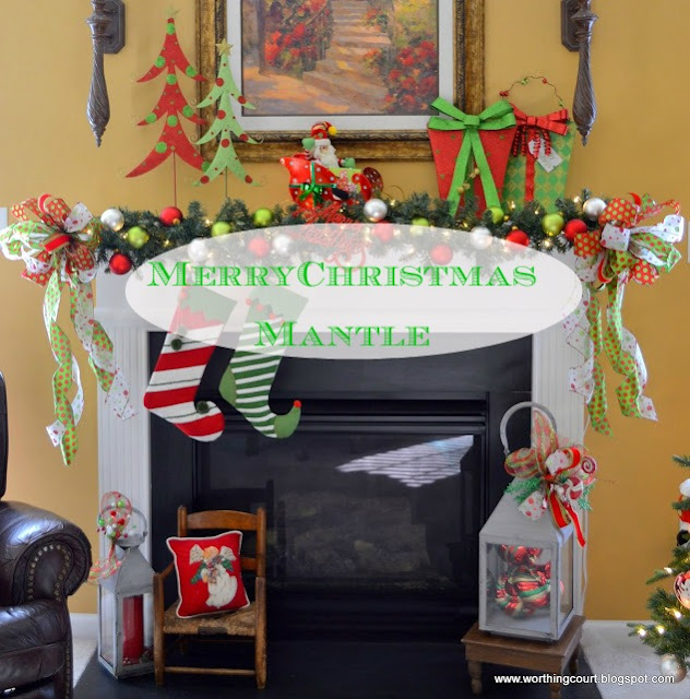 Christmas mantle via Worthing Court blog