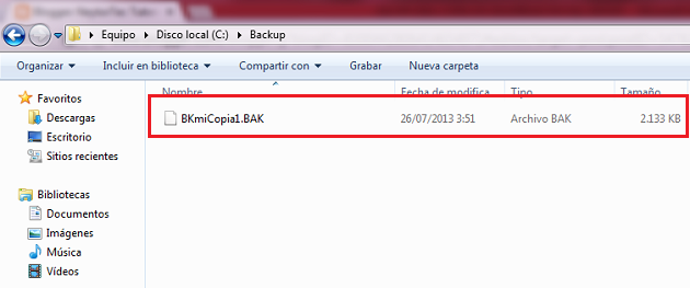 verificando backup