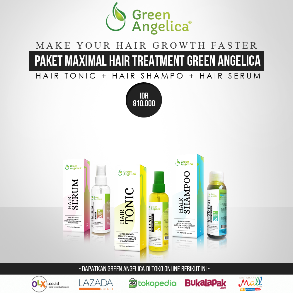 Paket Maximal Hair Tratment Green Angelica