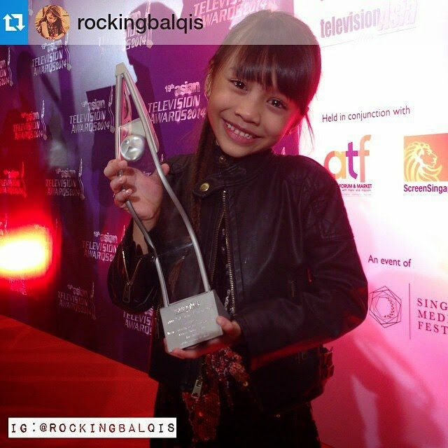 Puteri Balqis menang Pelakon Wanita Terbaik Asian Television Awards 2014