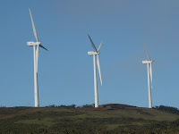 wind turbines that provide power to the Galapagos Eco Lodge on San Cristobal Island