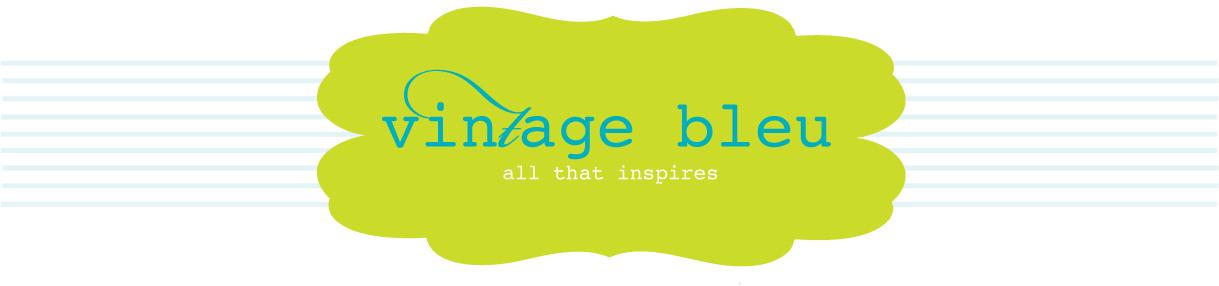 vintage bleu