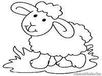 Download lembar mewarnai gambar domba dibawah ini lalu cetak dengan