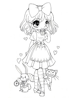 Cute Anime Alice Coloring Pages