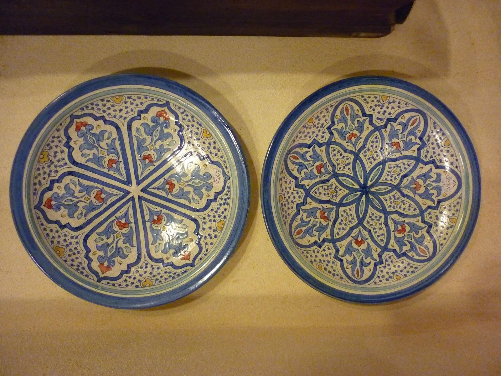 Las moradas artesan a andalus l mparas y platos de for Articulos de ceramica