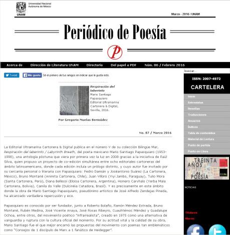 PERIÓDICO DE POESÍA UNAM