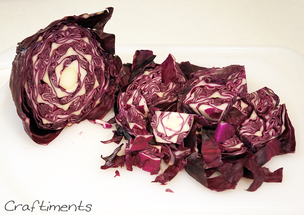 chopped red cabbage