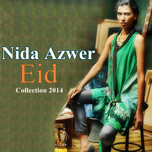 Nida Azwer Eid Dresses 2014