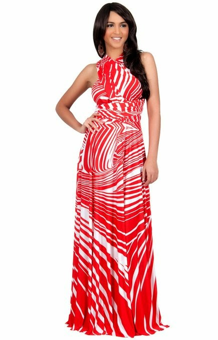Red White And Blue Maxi Dress Plus Size - Discount Evening Dresses
