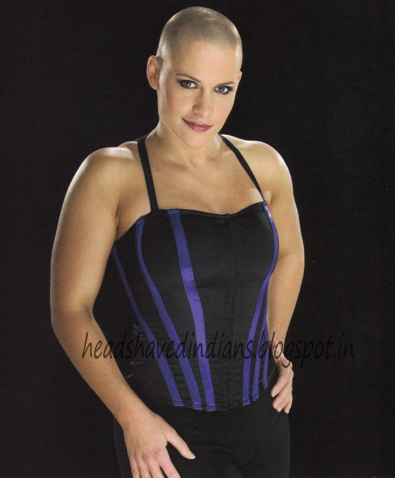 WWE Divas Molly Holly forced Headshave by WWE Champion Victoria