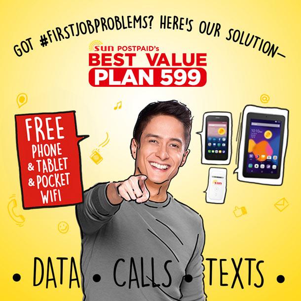 Sun Cellular Plan 599 free phone, tablet, pocket wifi