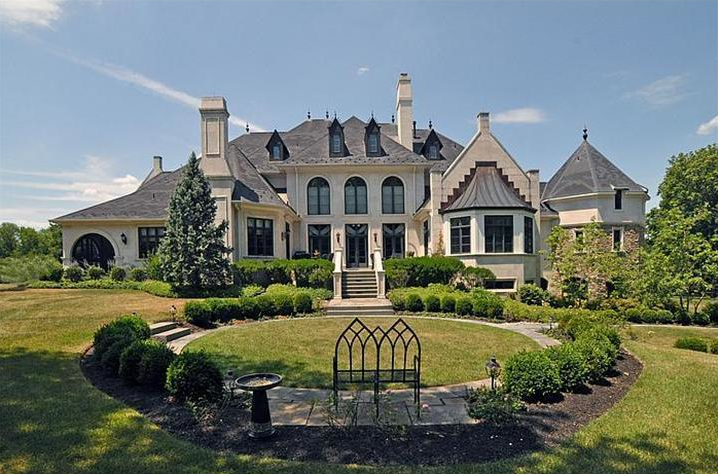 Mansions more elegant french style mansion in for French style homes for sale