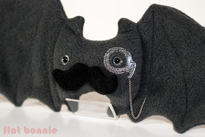 bat lefty monocle mustache fancy stuffed animal toy plush