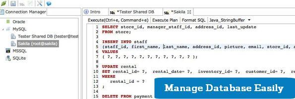 Query analyzer for DBMS
