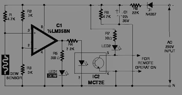 electro zone  rangkaian pendeteksi kelembaban udara