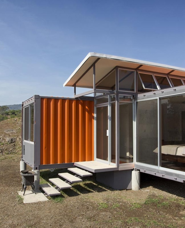 Casas ecologicas vivienda con 2 contenedores de 40 pies - Viviendas con contenedores ...