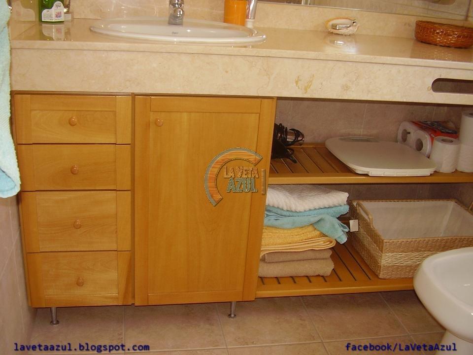La veta azul muebles en guatamb para ba o for Muebles de bano azul