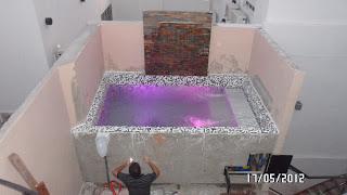 Arq martin arevalo arquitectura construcciones piscina de hormigon armado sobre terraza - Piscina en terraza peso maximo ...