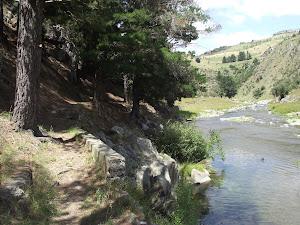Río cerca de Timaru Nueva Zelanda