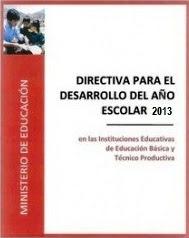 DIRECTIVA PARA EL AÑO 2013