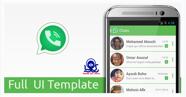 android ui template, android app download, whatsapp template, whatsapp ui templates, whatsapp messenger ui template andoroid