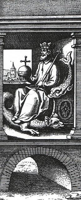 """Rey de """"El tratado de la piedra filosofal"""" de Lambspring"""