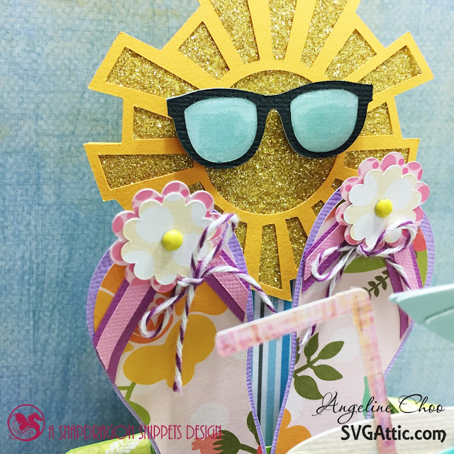 ScrappyScrappy: Tropical haven hey sunshine  #scrappyscrappy #svgattic #trendytwine #boxcard