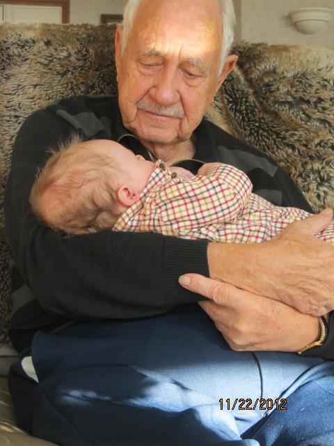 baby, grandparent, great grandparent, when regarding ruffles