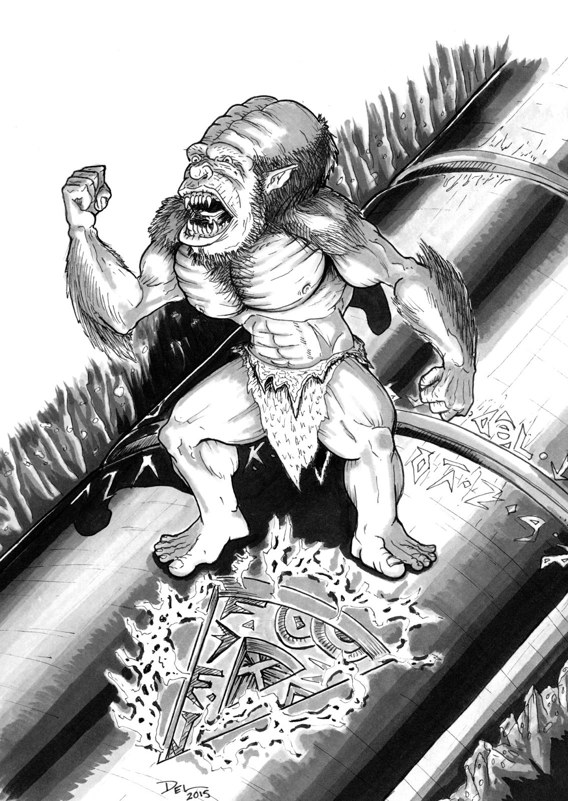 Ape-Men Hyperborea Jeff Talanian Del Teigeler Mavfire