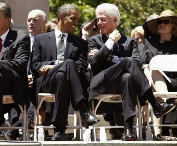 Joe Clancy with Presidents Clinton and Obama