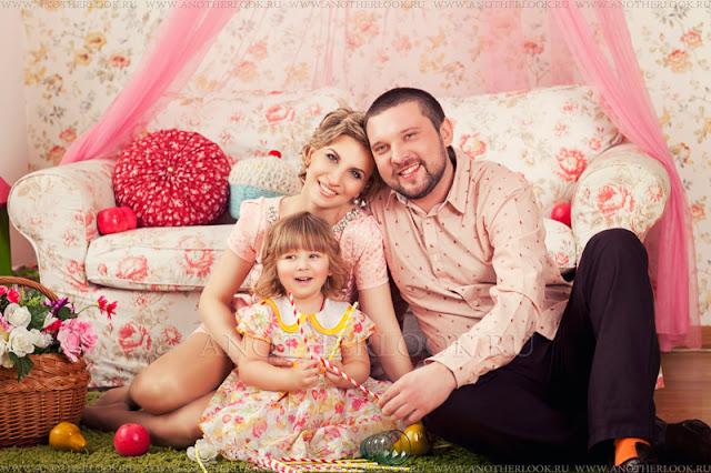 студия фотосессия всей семьей