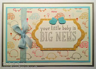 Stampin Up Sweet Li'l Things Baby Card