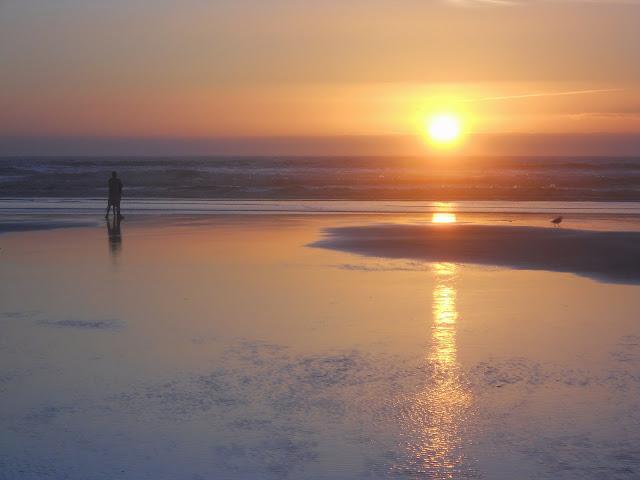 Seaside beach sunset