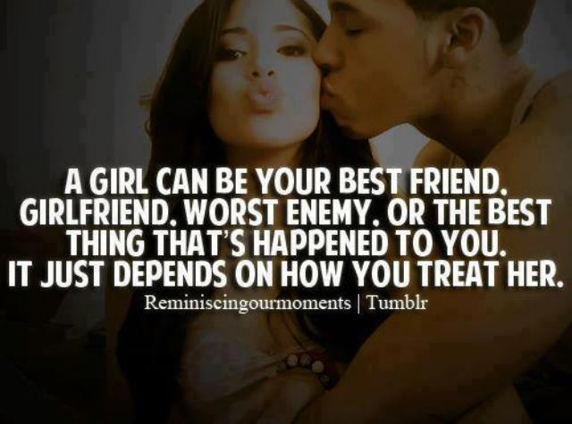 Treating Your Girl Right Quotes Image