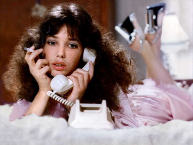girl on phone, retro, teenager