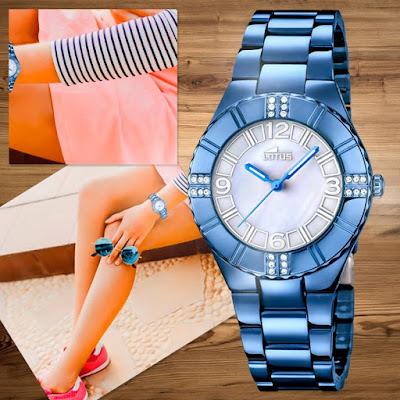 Lotus, reloj azul