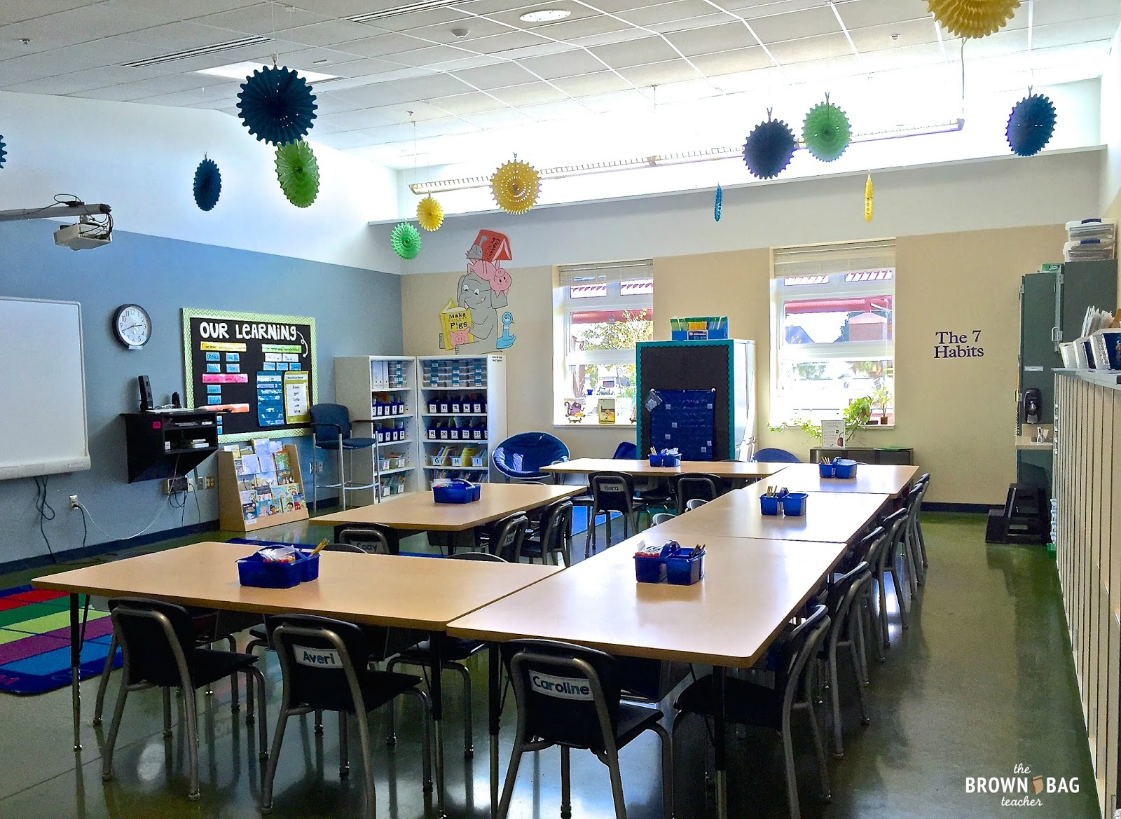 Modern Classroom Management ~ St grade classroom reveal the brown bag