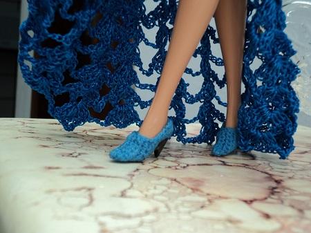 Sapatos de crochê para Barbie - por Pecunia MillioM